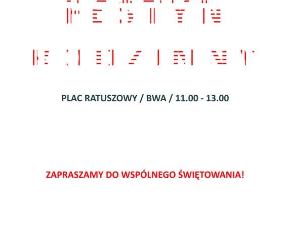 plakat Święto Biało - czerwonej