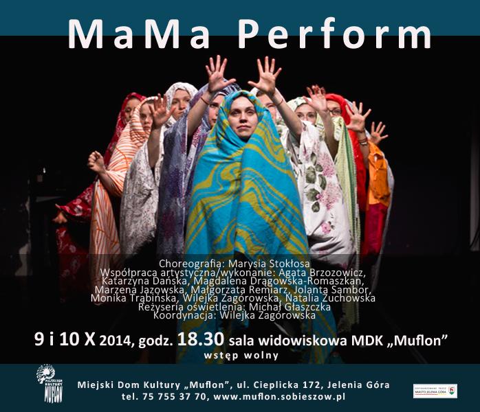 plakat mama perform